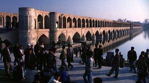 Vorderasien, Iran-Expeditionen - Brücke in Isfahan
